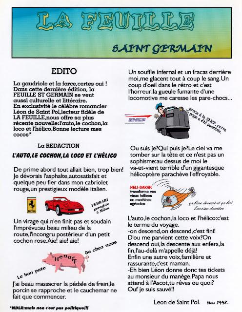 « La feuille Saint-Germain » - Numéro 05 - Mars 1998
