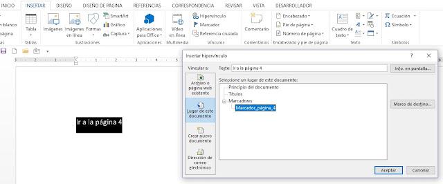 Como usar hipervínculos en Microsoft Word