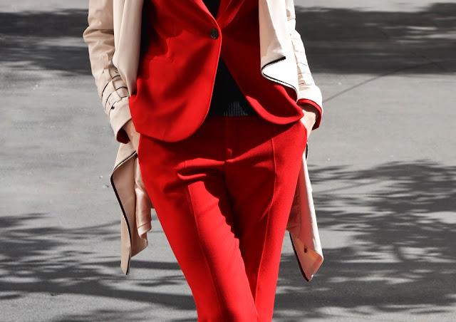 костюм рабочий красный