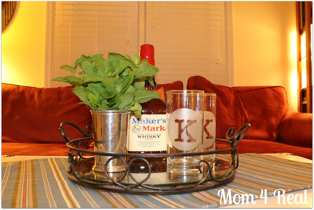 Etched Mint Julep Glasses at www.mom4real.com