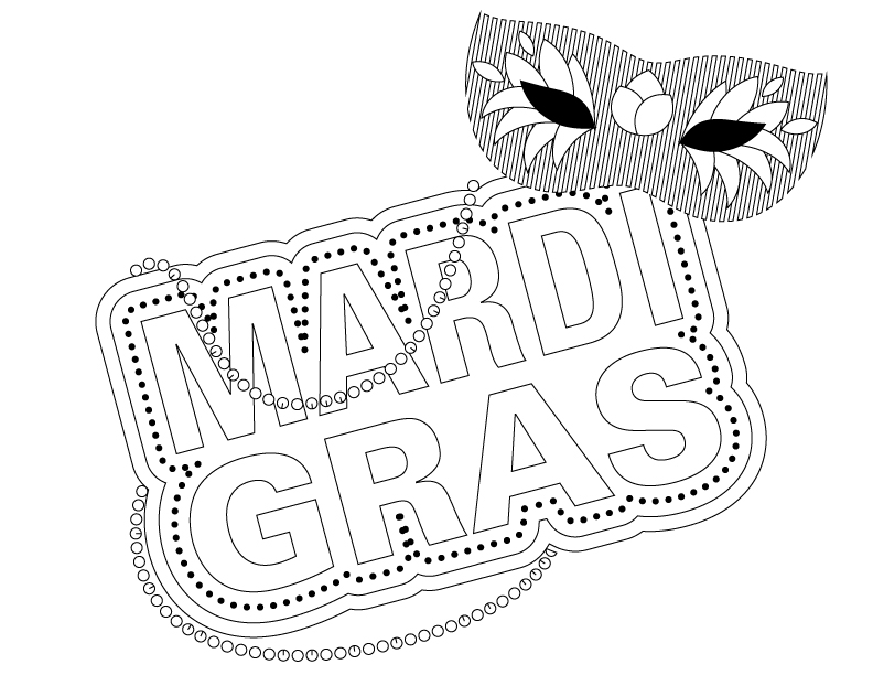 Southern Mom Loves: Mardi Gras (Adult and Kid) Coloring Pages