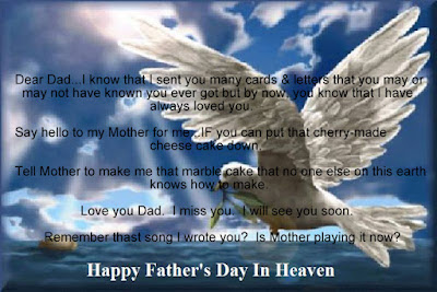 Happy Father's day wishes for father: dear dad i know that i sent you many cards