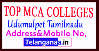 Top MCA Colleges in Udumalpet Tamilnadu