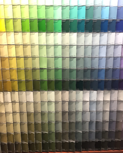 Green and Blue Paint Swatches