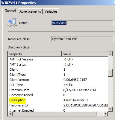 Asset Tag in SCCM Database | NETvNext Blog