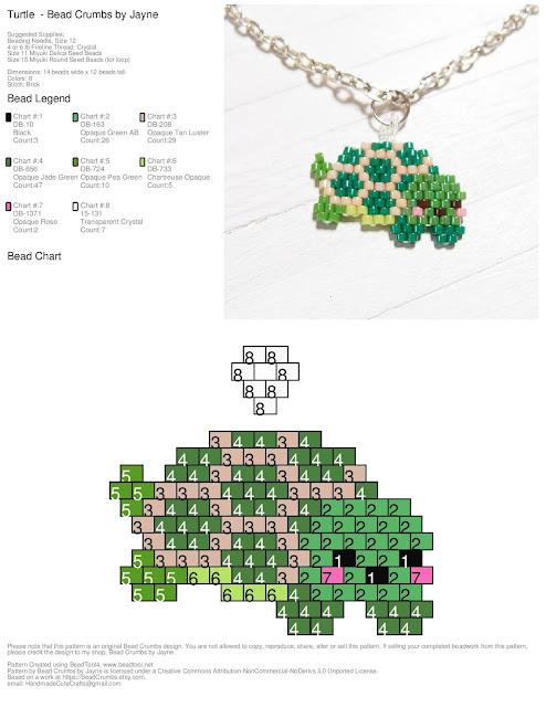 Brick Stitch bead pattern by Bead Crumbs