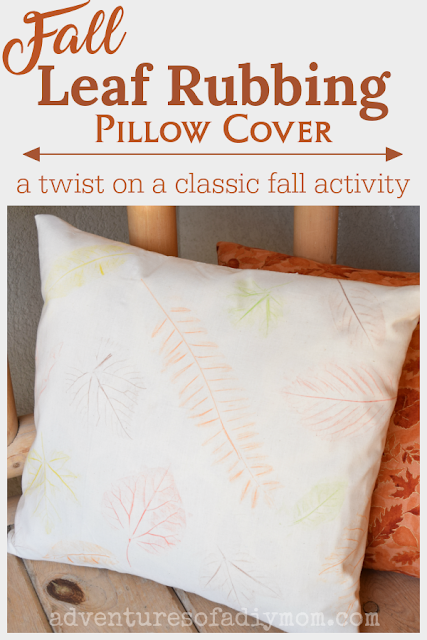 fall leaf rubbing pillow cover