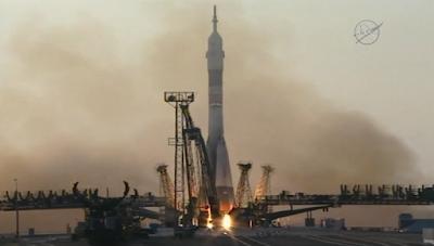 Soyuz rocket launching