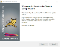 16.1 Welcome to the Apache Tomcat Setup Wizard