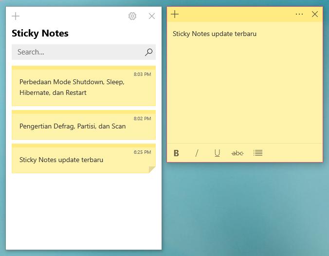 Sticky Notes Windows 10