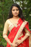 Akshara in Red Saree Golden Choli at LV Movie Makers Production No 1 Movie Opening ~  Exclusive 142.JPG