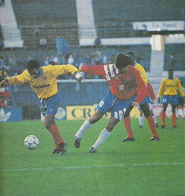 Chile y Colombia en partido amistoso, 30 de abril de 1993