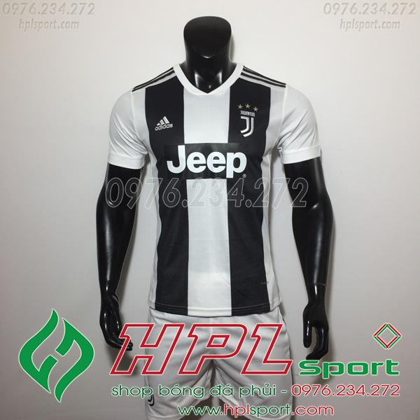 Áo đá bóng câu lạc bộ Juventus trắng đen 2019