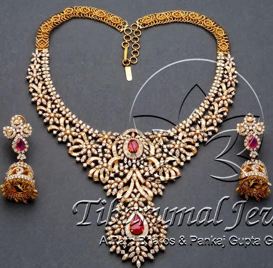 Huge Wedding Set By Tibarumal Jewels Jewellery Designs