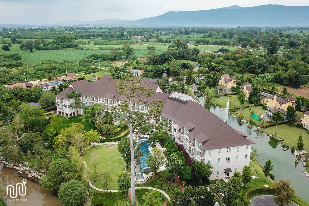 ภาพมุมสูงของโรงแรม U Khao Yai