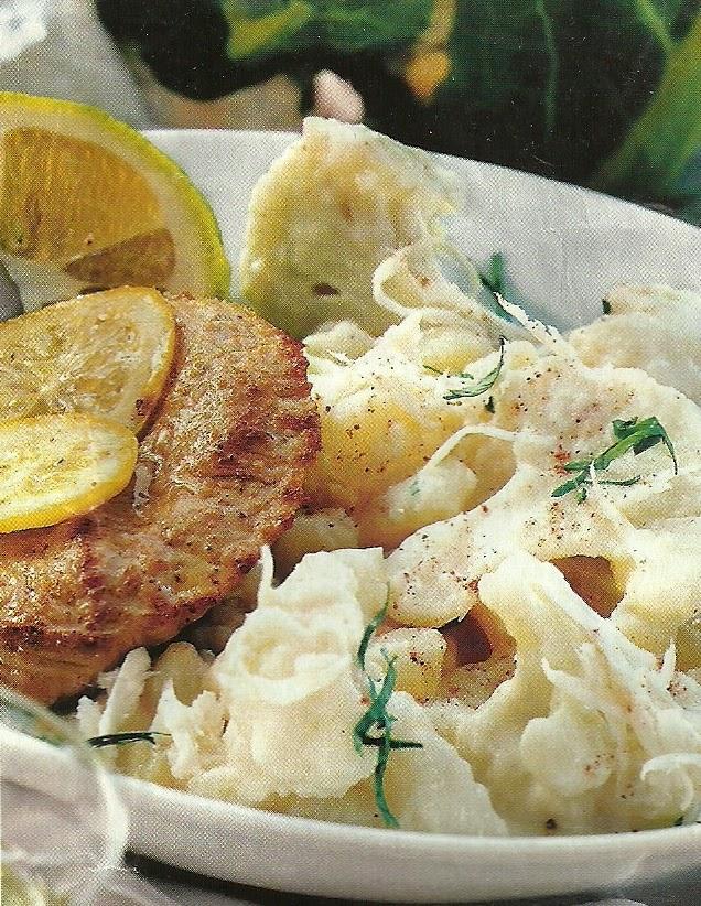 Способ приготовления цветной капусты с картофелем