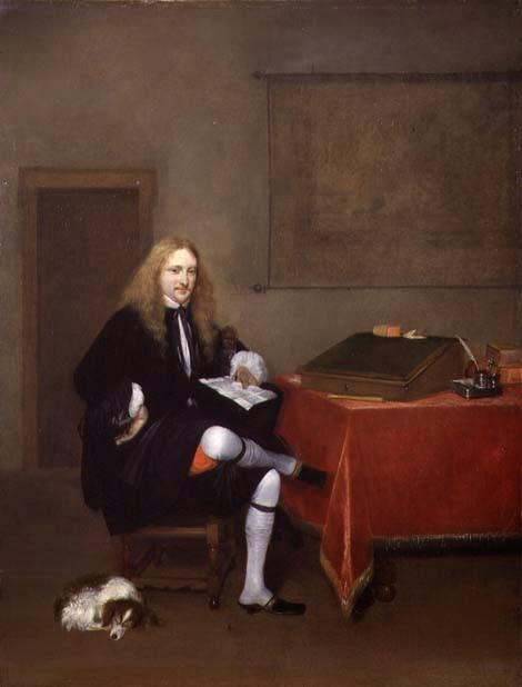 Retrato de um Homem Estudando - Gerard Terborch ~ Pintor Barroco ~ Holandês