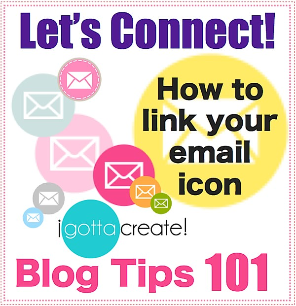 How to code your email button tutorial at I Gotta Create!