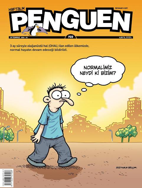 Penguen Dergisi - 28 Temmuz 2016 Kapak Karikatürü