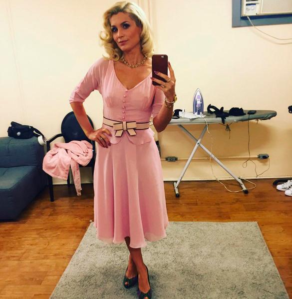 Figurino Sandra (Flavia Alessandra) Eta mundo bom, vestido rosa