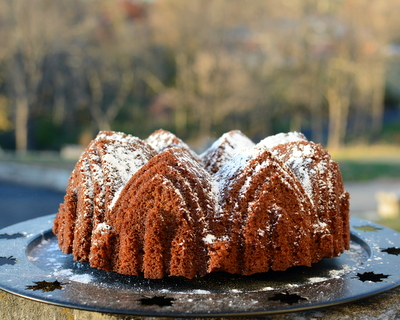 Spiced Honey Cake ♥ KitchenParade.com, rich with warm fall-and cold-weather spices.