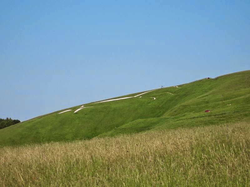 White Horse Hill, Uffington White Horse, Oxfordshire.