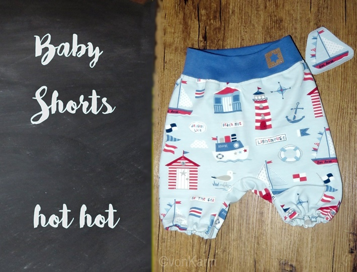 DIY - Baby Short mit Snappap Etikett