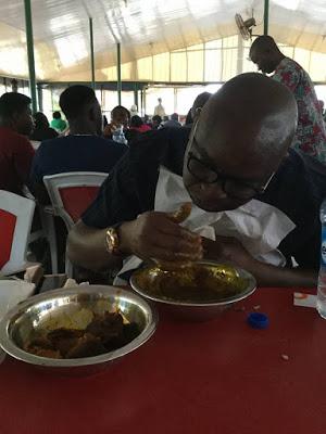 fayose eating amala ewedu abuja