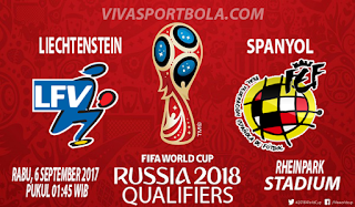 Prediksi Liechtenstein vs Spanyol 6 September 2017