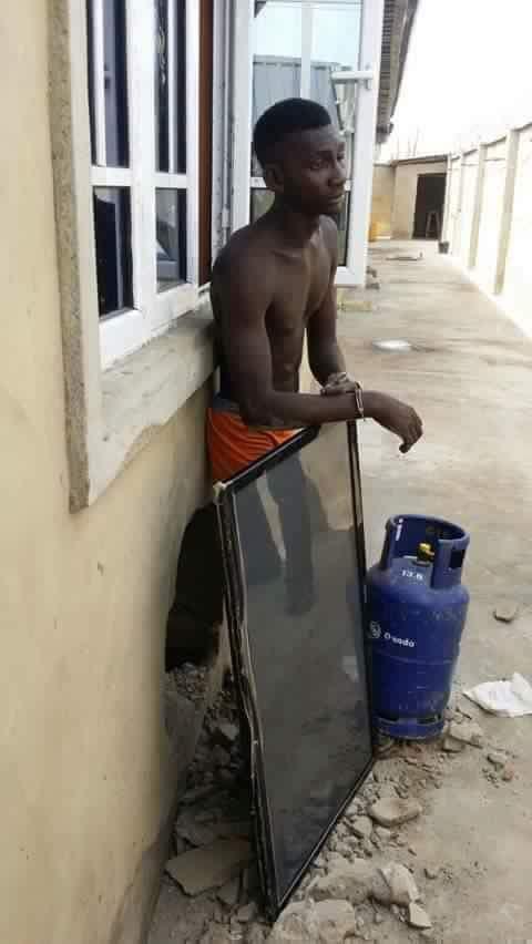 Burglary caught in the act