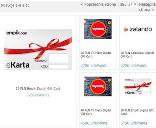 Metody wypłat: PayPal, bony zakupowe (np. Empik, Zalando, Mango), cel charytatywny (UNICEF).