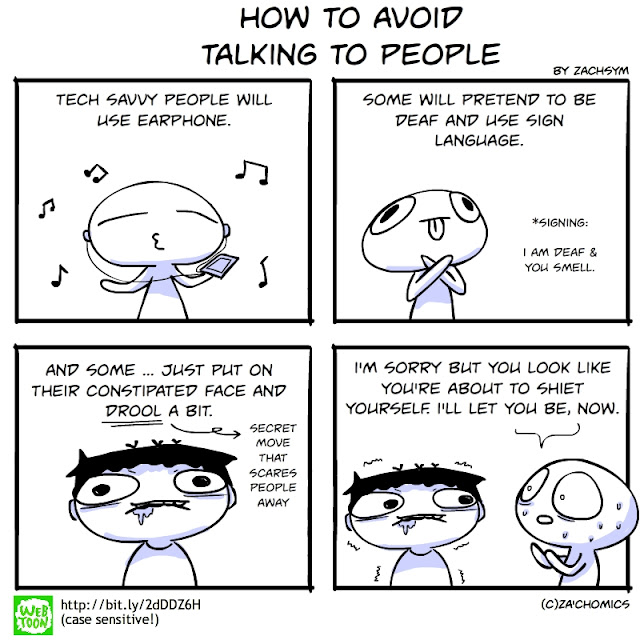 How to resist talking to someone