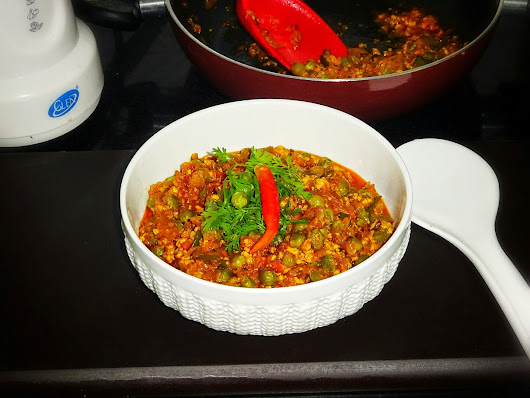 Mutter Paneer Bhurji (Crumbled Cottage Cheese With Peas)