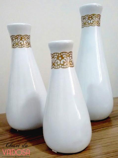 decoração de vasos manual