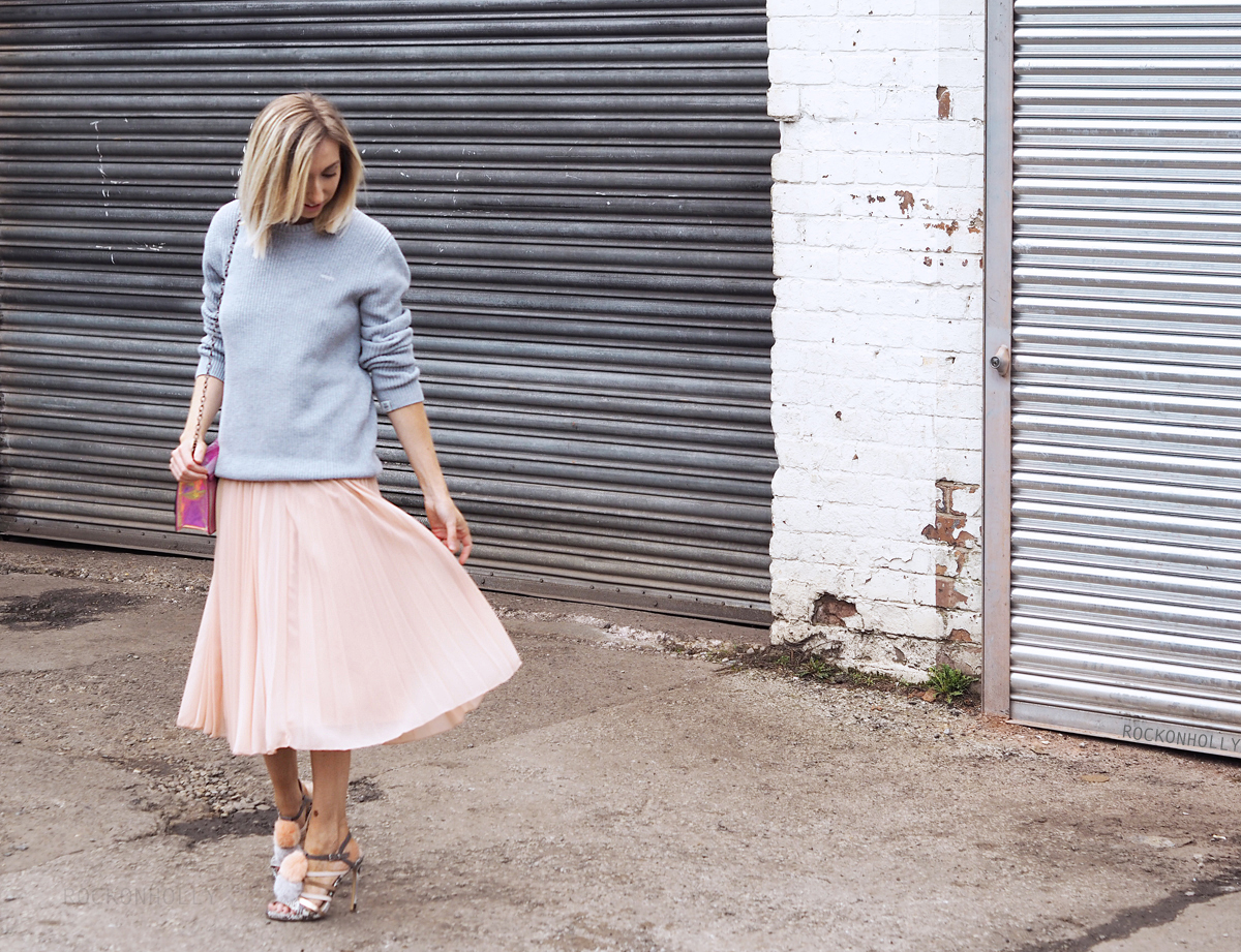 Old Harry Jumper and Pleated Skirt