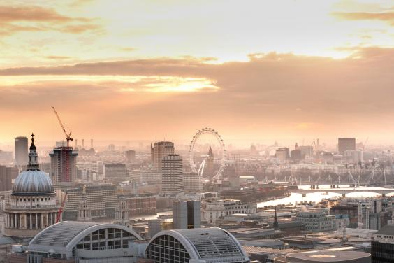 Breathtaking view from The Heron penthouse in London - found on Hello Lovely studio