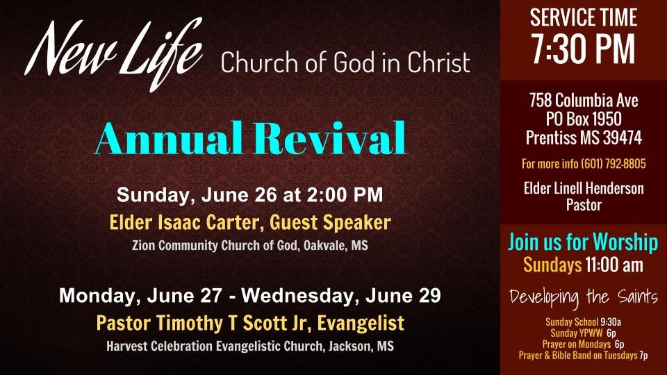church revival announcements