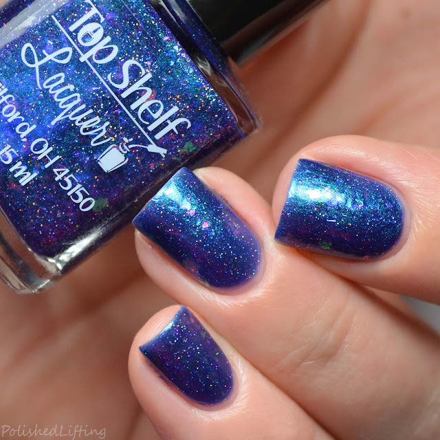 blue to purple nail polish