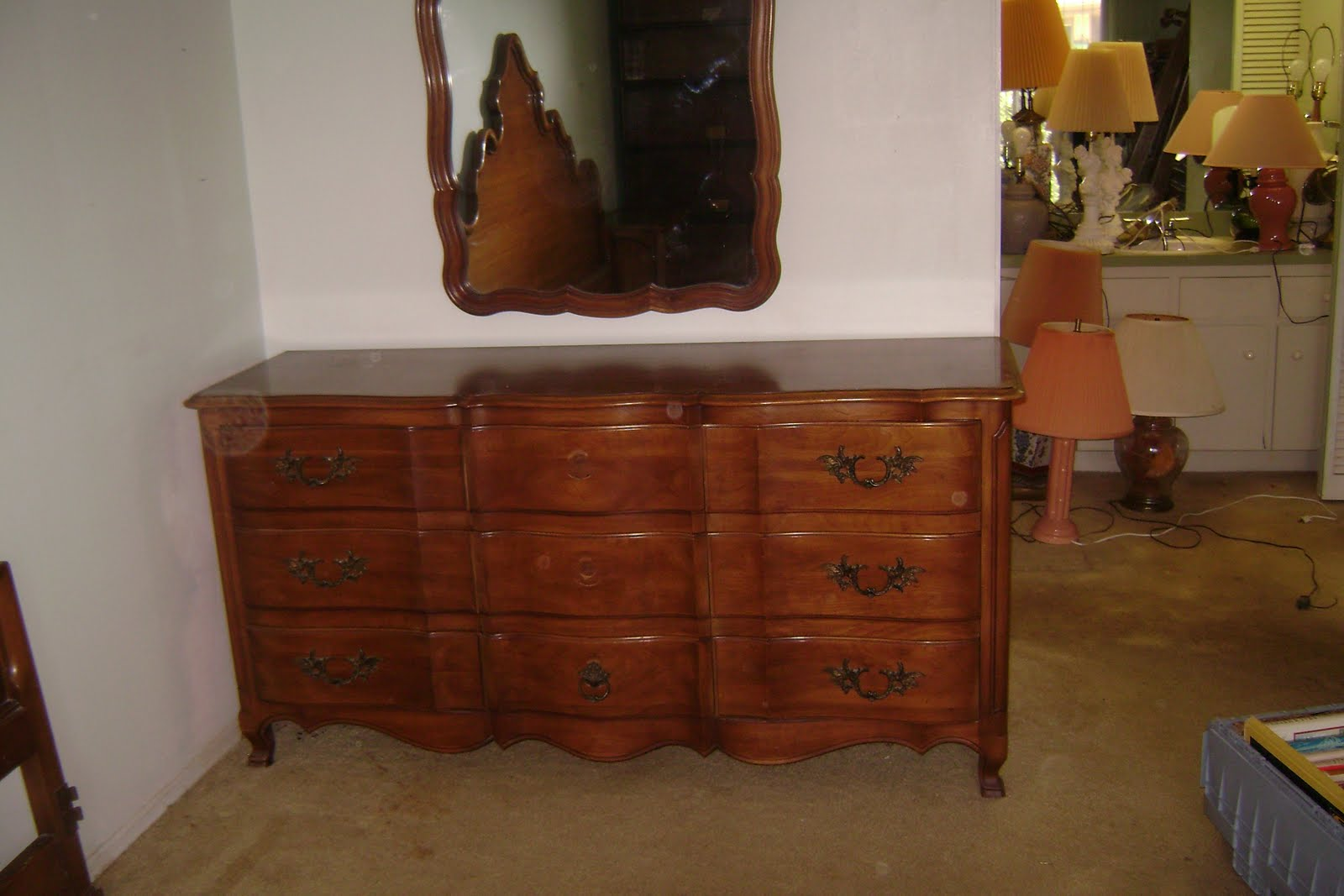 Estate Sale Venice Fl Cherry French Provincial Bedroom Set