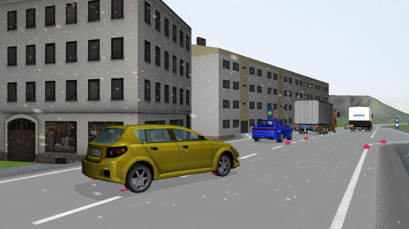 voiture du futur un logiciel de simulation r aliste chez dspace pour d velopper les aides la. Black Bedroom Furniture Sets. Home Design Ideas