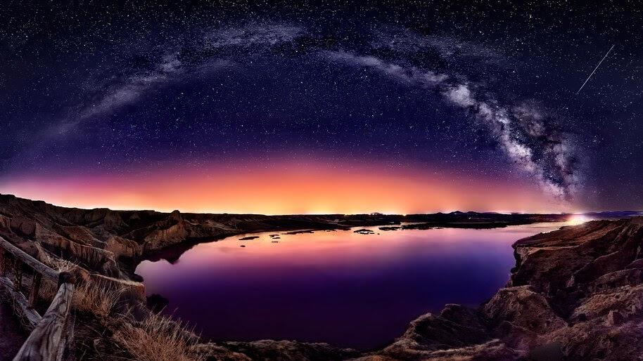 Landscape, Night, Sky, Stars, Scenery, 4K, #4.761 Wallpaper