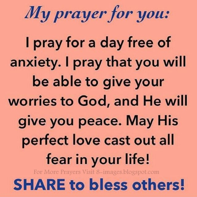 Dealing with Anxiety ? Prayer | - Feeling depressed ...
