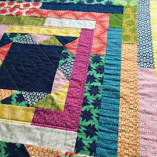 vibrant patterns and colours on quilt fabric
