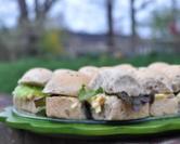 Mini Egg Salad Sandwiches with Rhodes Multi-Grain Rolls
