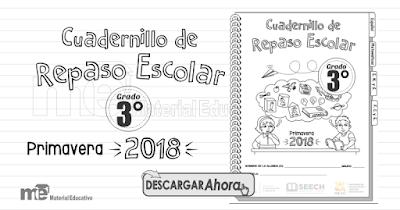 Cuadernillo de Repaso Escolar Tercer Grado Primavera 2018