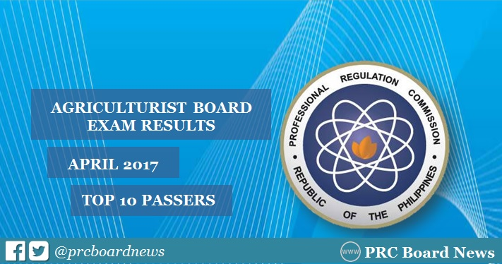 top 10 April 2017 Agriculturist board exam