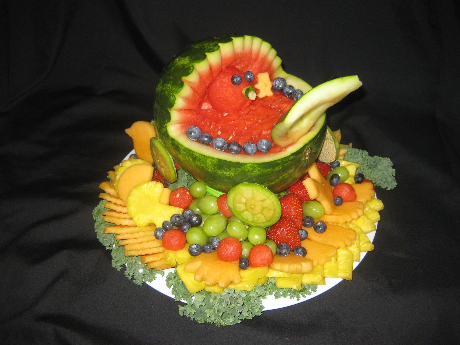 Fruit Platter Can Say It Baby Shower