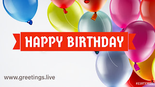 Happy birthday greetings balloons HD Colourful Image