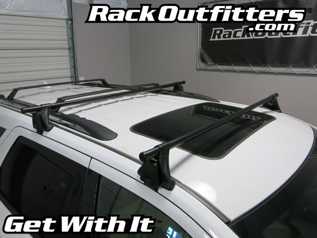Dodge Durango Yakima Q Tower Round Bar Roof Rack 11 15