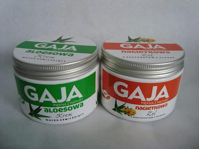krem Gaja aloesowy, aloes, żel Gaja nagietkowy z ekstraktem z aloesu, kosmetyki Gaja, Beta-Sitosterol w kosmetykach,